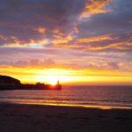 Equinox sunset at Port Erin